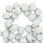 Round wooden beads 8mm Jasmin nature grey