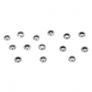 Stainless steel findings crimp bead 2mm Silver