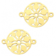 Stainless steel charms mandala connector Gold
