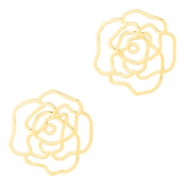 Bohemian rose connectors 10mm Gold