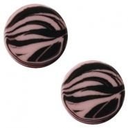 20mm flat Polaris Elements cabochon zebra Taupe brown