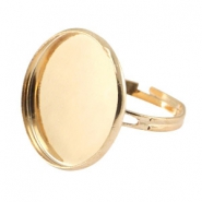 Metal ring for 20mm cabochon Gold