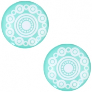 "Basic cabochon ""Zeeuwse knop"" 20mm Turquoise green"