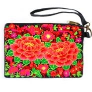 Trendy Boho Ibiza wallet Black red-green