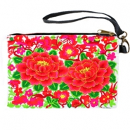 Trendy Boho Ibiza wallet Black red-green-white