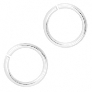 8mm DQ jumpring DQ Silver durable plated