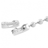 DQ ball chain clasp for 2mm ball chain DQ Silver durable plated