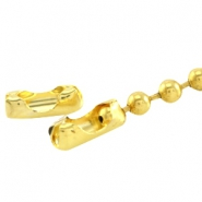 DQ ball chain clasp for 2mm chain DQ Gold durable plated