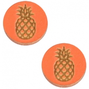 Basic wooden cabochon 12mm pineapple Orange