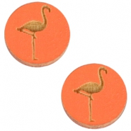 Basic wooden cabochon 12mm flamingo Orange