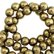 Round hematite beads 6mm  Antique gold