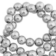Round hematite beads 6mm  Light grey