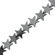 Hematite beads star 10mm Anthracite grey