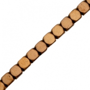 Hematite beads cube 4mm Rose gold