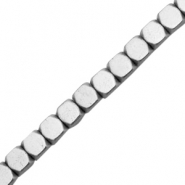 Hematite beads cube 3mm Light grey