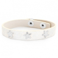 Trendy bracelets reptile with studs silver star Off white