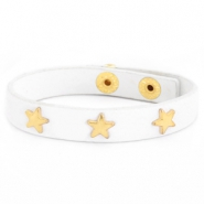 Trendy bracelets with studs gold star White
