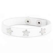 Trendy bracelets with studs silver star White