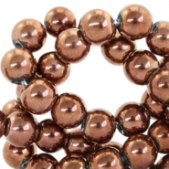 4mm glass beads  Copper metallic