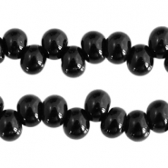 8mm glass beads  Black