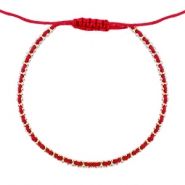 Minimalistic bracelets Classic red-silver