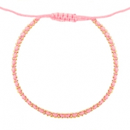 Minimalist bracelets Light coral rose