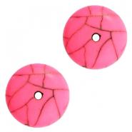 DQ acrylic beads disc Pink