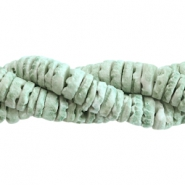Shell beads disc 4mm Olive green