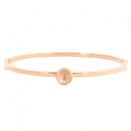 Stainless steel bracelets with setting for Swarovski SS29 Rose gold