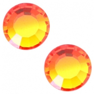 Swarovski Elements SS34 flat back stone (7mm) Fire opal orange