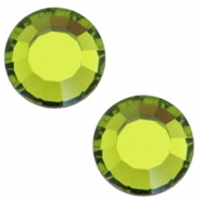 Swarovski Elements SS30 flat back stone (6.4mm) Olivine green