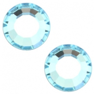 Swarovski Elements SS30 flat back stone (6.4mm) Aquamarine blue