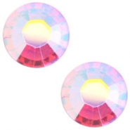 Swarovski Elements SS20 flat back stone (4.7mm) Light rose aurore boreale