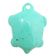 DQ acrylic charms turtle Turquoise