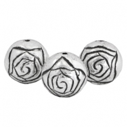 DQ acrylic beads metal look 16mm rose Silver