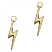 DQ metal charms 19x5mm lightning Antique bronze (nickel free)