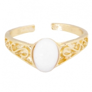 Musthave rings with little deco stone Gold