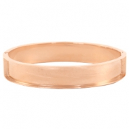 Stainless steel bracelets (for 10mm flat stringing material) Rose gold