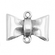 TQ metal charms bow Antique silver