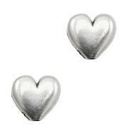TQ metal beads little heart Antique silver