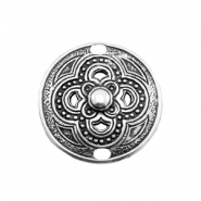 TQ metal charms Boho style connector Antique silver