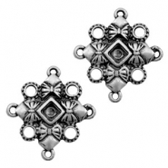TQ metal charms connector/settings bows Antique silver