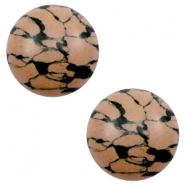Basic cabochon stone look 12mm Sand-brown-black