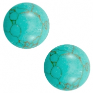 Basic cabochon stone look 12mm Light turquoise brown