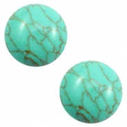 Basic cabochon stone look 12mm Turquoise-green