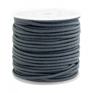 Coloured elastic cord 1.5mm Dark grey