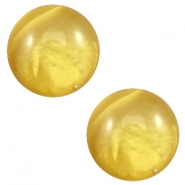 12mm classic cabochon Polaris Elements pearl shine Spicy mustard green