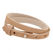 Cuoio bracelets nubuck leather 8mm double for 12mm cabochon Sandstone rose