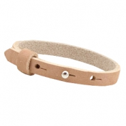 Cuoio bracelets nubuck leather 8mm for 12mm cabochon Sandstone rose