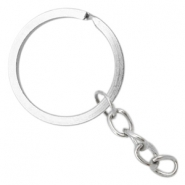 Keychains ring chain 30mm Antique silver